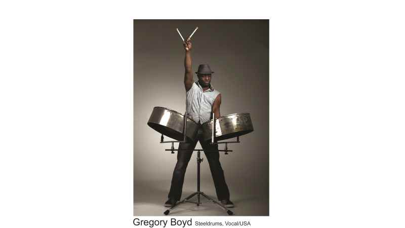 """Master of the Steeldrums- Gregory Boyd. 