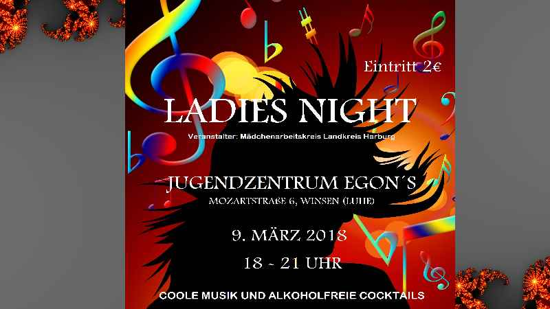 Plakat zur Ladies Night. | Foto: ein