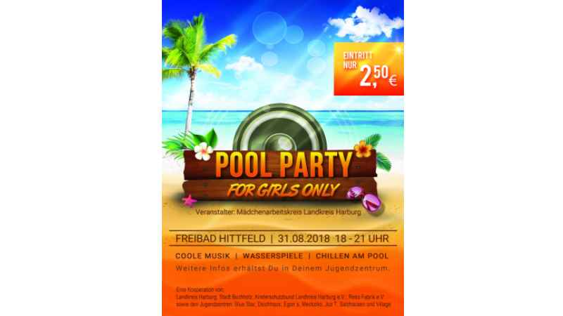 Pool-Party-Flyer. | Foto: ein