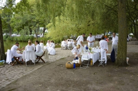Weißes Dinner in Harburg (26.08.2017)